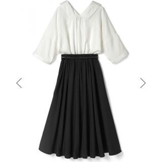 GRL - スキッパーシャツ&フレアスカートセットアップ