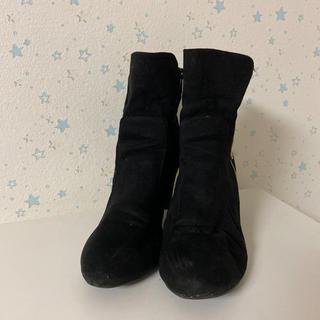 ショートブーツ LL 黒 24.5cm(ブーツ)
