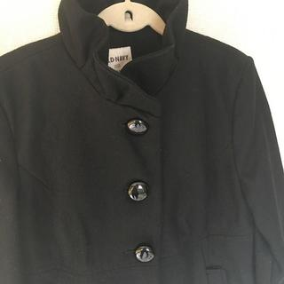 オールドネイビー(Old Navy)の美品 フリル襟 ピーコート 入学式 卒業式 セレモニー ブラック Sサイズ(ピーコート)