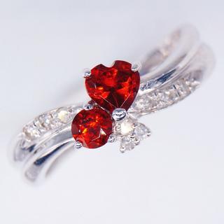 トクトクジュエリー✨1万円均一✨ガーネット ダイヤモンド リング(リング(指輪))