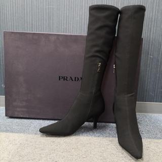 PRADA - PRADA プラダ ストレッチブーツ 黒