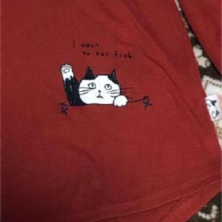 サンタモニカ(Santa Monica)の古着 tシャツ 可愛い 猫ちゃん カットソー 長袖 カットソー(カットソー(長袖/七分))