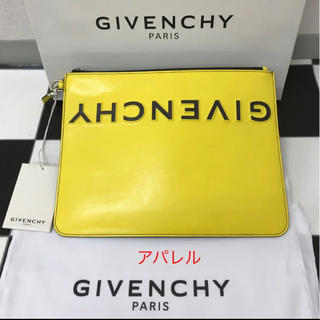 GIVENCHY - 新品正規品 19AW GIVENCHY ジバンシィ ロゴ クラッチバッグ 黄色