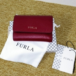 Furla - 正規品 FURLA フルラ 三つ折り財布 ワインレッド 赤 コンパクト