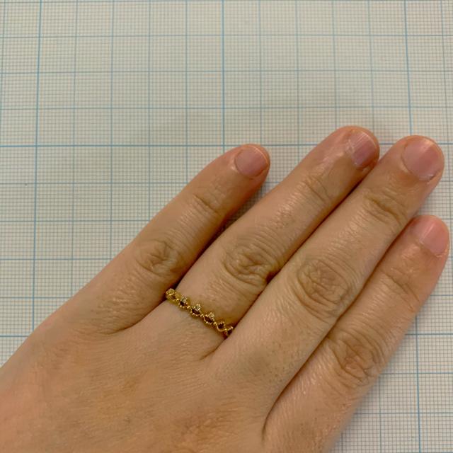 agete(アガット)のK10 ダイヤモンド アガット agete リング  レディースのアクセサリー(リング(指輪))の商品写真