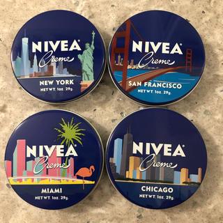 新品北米限定品ニベア4都市版青缶4缶