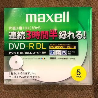 マクセル(maxell)のmaxell DVD-R DL 5パック 新品未利用(PC周辺機器)