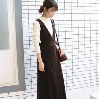 IENA SLOBE - 【 CLASSY. Closet×SLOBE 】細コールジャンパースカート