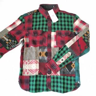 ダブルアールエル(RRL)のRRL 新作 パッチワーク プラッド ワークシャツ 定価74800円 正規品(シャツ)