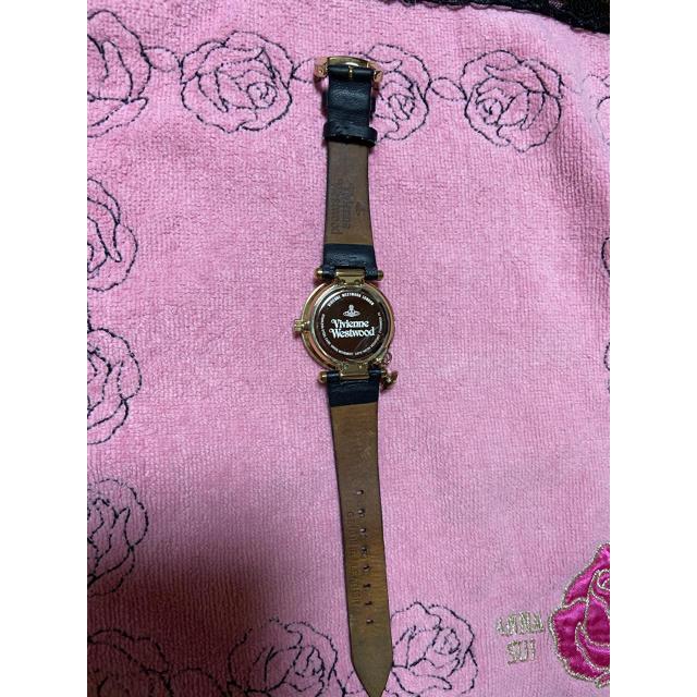Vivienne Westwood(ヴィヴィアンウエストウッド)のヴィヴィアンウエストウッド 腕時計 オーブ ゴールド ブラック 革ベルト  レディースのファッション小物(腕時計)の商品写真