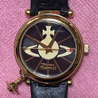 Vivienne Westwood - ヴィヴィアンウエストウッド 腕時計 オーブ ゴールド ブラック 革ベルト