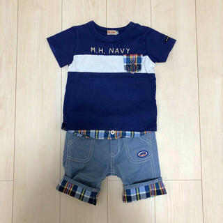 mikihouse - MIKIHOUSE ミキハウス Tシャツ ハーフパンツ セット 100cm