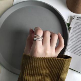 ハイク(HYKE)のシルバー925 四連リング(リング(指輪))