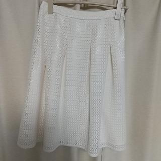 エル(ELLE)のレース スカート(ひざ丈スカート)