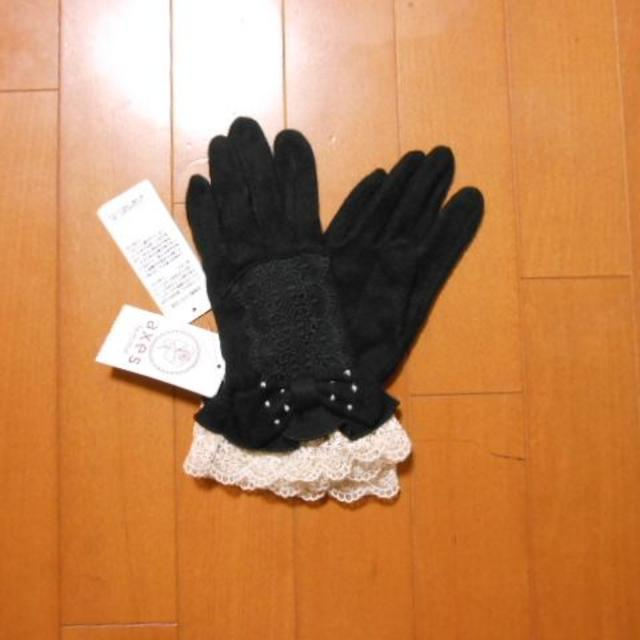axes femme(アクシーズファム)の新品☆アクシーズファムのリボン×レースフリル手袋 レディースのファッション小物(手袋)の商品写真
