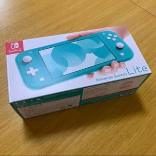 ニンテンドースイッチ(Nintendo Switch)の【新品】ニンテンドースイッチライト Nintendo Switch ターコイズ(携帯用ゲーム機本体)