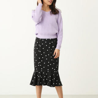 リエンダ(rienda)のリエンダ ドットマーメードスカート(ひざ丈スカート)