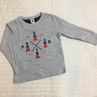 PETIT BATEAU - プチバトー  長袖Tシャツ 100