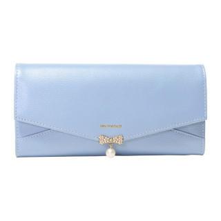 ミッシュマッシュ(MISCH MASCH)の新品 ダイアナ ブルー かぶせ 本革 レザー 長財布(財布)