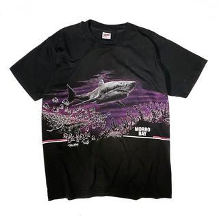 アンビル(Anvil)の《90s》San Segal Sportswear サメ柄 Tシャツ USA製(Tシャツ/カットソー(半袖/袖なし))