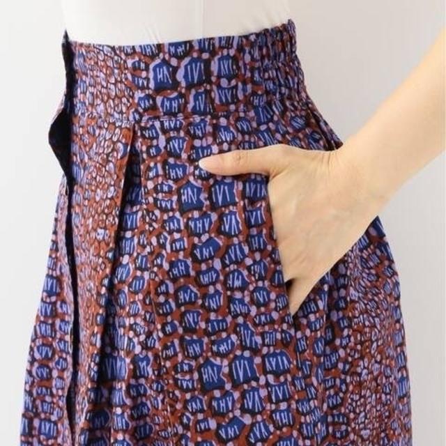 Spick and Span(スピックアンドスパン)の【Maison Chateau Rouge】プリントフロントボタンスカート レディースのスカート(ひざ丈スカート)の商品写真