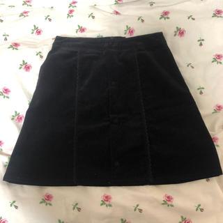 メリージェニー(merry jenny)のメリージェニー黒スカート(ひざ丈スカート)
