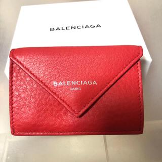 Balenciaga - ペーパーミニウォレット 赤