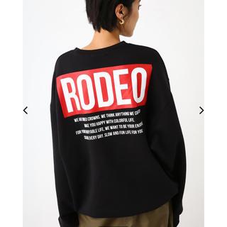 RODEO CROWNS WIDE BOWL - ロデオクラウンズ  トレーナー バッグBOXロゴ 新品タグ付