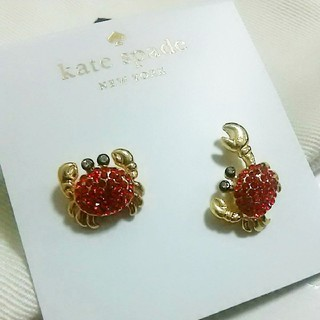 kate spade new york - 【新品】kate spade ケイト・スペード ピアス かに 蟹 両耳 収納ポー