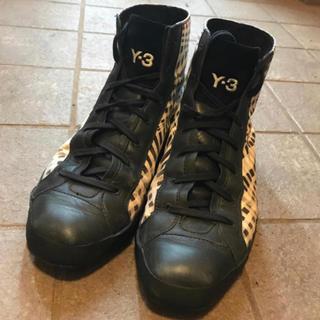 Y-3 靴 白 黒 UK8 26.5cm相当