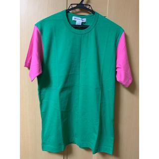 コムデギャルソン(COMME des GARCONS)の⭐︎新品⭐︎ギャルソンシャツ 緑×ピンク切り返しTシャツ⭐︎Mサイズ⭐︎(Tシャツ/カットソー(半袖/袖なし))