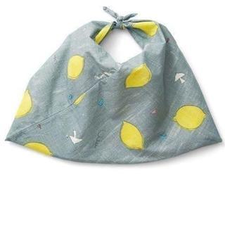 フェリシモ(FELISSIMO)のSubikiawa×フェリシモ レトロなレモン柄のあづま袋(ハンドバッグ)