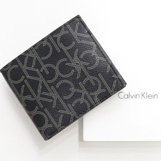 Calvin Klein - 新品 カルバンクライン 二つ折り 財布 ロゴモノグラム 人気 札入れ 小銭入れ