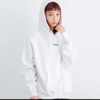 X-girl - X-girl  web限定 新品未使用 白 パーカー ロゴ