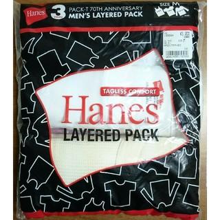 ヘインズ(Hanes)の新品 Hanes パックTシャツ70周年記念MIXレイヤードパック Mサイズ(Tシャツ/カットソー(半袖/袖なし))