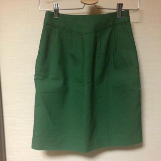 プリドフルール(prix de fleur)のグリーンスカート(ひざ丈スカート)