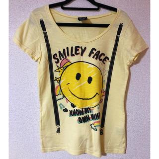 スマイリーフェイス 半袖Tシャツ ラウンドネック(Tシャツ(半袖/袖なし))