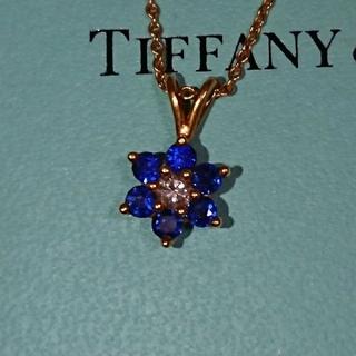 Tiffany & Co. - 正規品TIFFANYティファニーバターカップ ペンダント ネックレス サファイア
