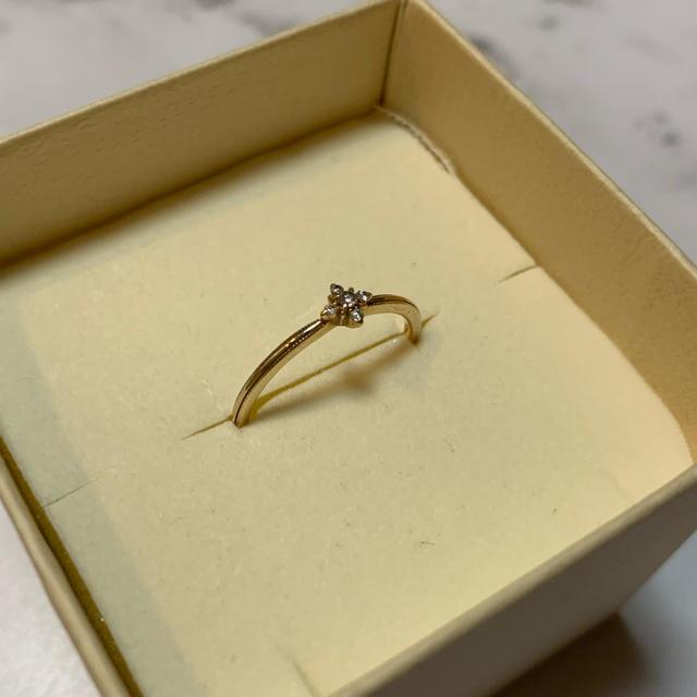NOJESS(ノジェス)のイエローゴールド ダイヤリング 11号 レディースのアクセサリー(リング(指輪))の商品写真