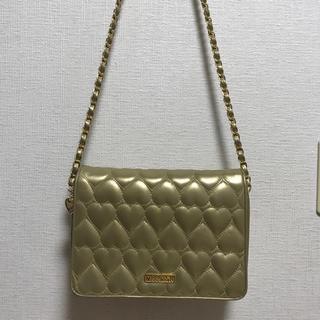 MOSCHINO - vintage  moschino ゴールドハートショルダーバッグ