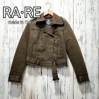 ラーレ(RA-RE)のRARE*未使用*スタッズ付きライダースジャケット*送料込(ライダースジャケット)