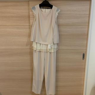 結婚式 入学式 ドレス パンツ オールインワン【バッグストールネックレス付き】