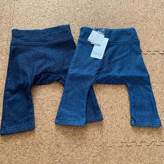 アンパサンド(ampersand)のアンパサンド 裏起毛 レギンス  新品&美品 2枚セット サイズ60(パンツ)