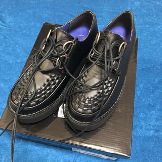 ヨースケ(YOSUKE)のラバーソールシューズ 黒 新品未使用(ローファー/革靴)