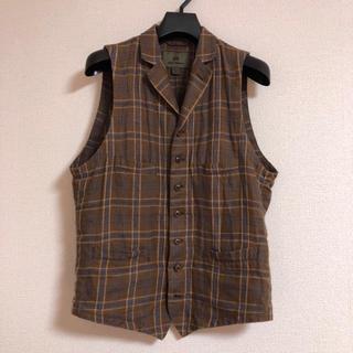 エンジニアードガーメンツ(Engineered Garments)のNigel Cabourn ナイジェルケーボン ベスト リネン 麻 チェック(ベスト)