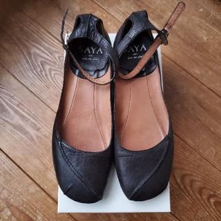 サヤ(SAYA)のSAYA 黒靴 美品(ハイヒール/パンプス)