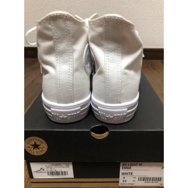 CONVERSE(コンバース)の新品 タグ付き コンバース  ハイカット 23㎝ ホワイト レディースの靴/シューズ(スニーカー)の商品写真