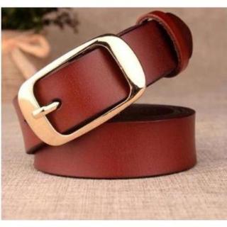 【本革/レッドブラウン】ビジネス用 プレゼント用 高品質のベルトです