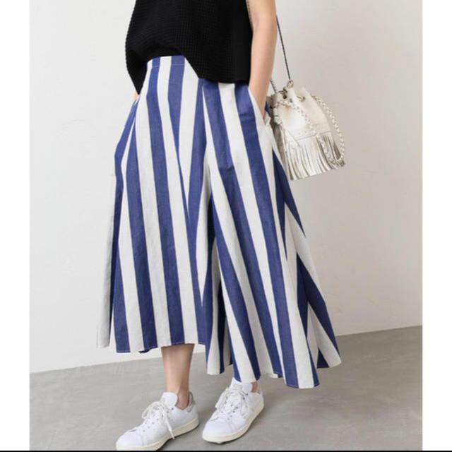 IENA(イエナ)のIENA フレアスカート ボーダー レディースのスカート(ロングスカート)の商品写真