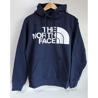 THE NORTH FACE - ★ US ノースフェイス ジャンボロゴ パーカー メンズS ネイビー
